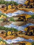 NEW! CATERPILLAR DIGGER TRUCKS - Fabric 100% Cotton - Price Per Metre
